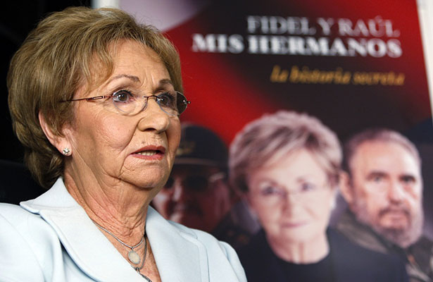 Hermana de Fidel Castro exiliada en Miami no acudirá a su funeral