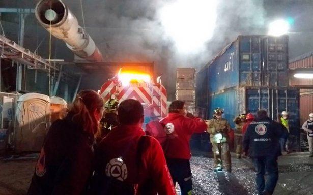 Incendio en obras del tren interurbano deja 40 intoxicados
