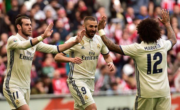 Real Madrid vence al Athletic y vuelve a tomar distancia del Barça