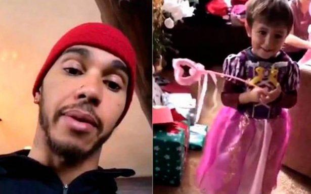 [Video] Hamilton se disculpa por burlarse de su sobrino que se vistió de princesa