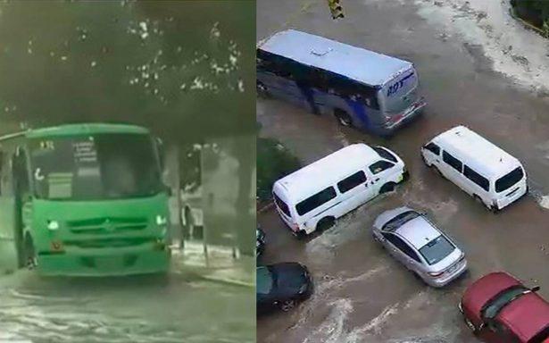 Alertan por inundaciones en Indios Verdes y Ecatepec tras fuertes lluvias