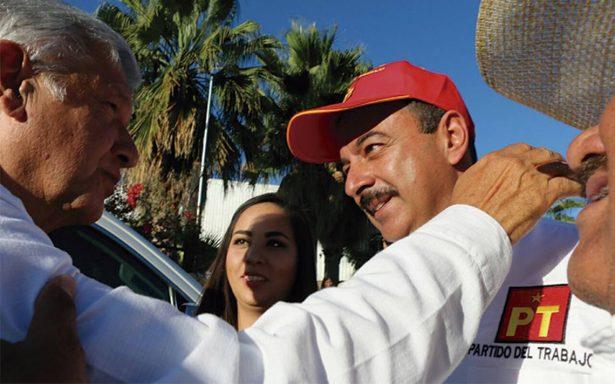 López Obrador respalda a líder petista en Aguascalientes