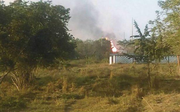 Explosión e incendio en ductos de Pemex en Altamira deja una mujer herida