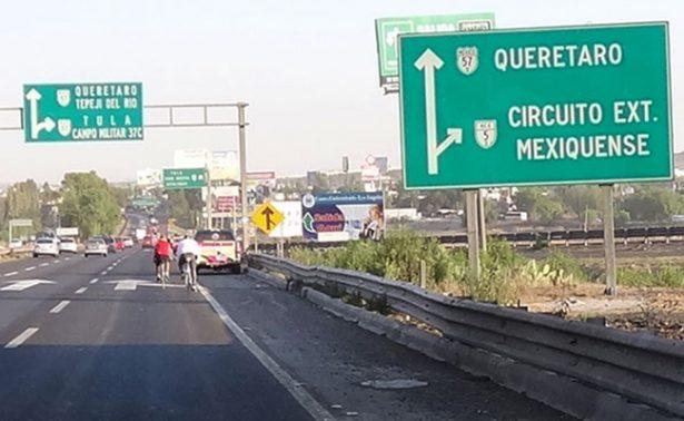 Aplicarán contraflujo nocturno en la autopista México-Querétaro