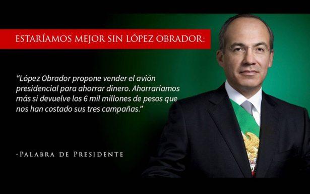 """""""Palabra de Presidente"""": así responde Calderón al debate presidencial"""