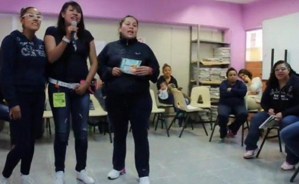 Con karaoke ayudan a presas de Santa Martha a identificar violencia de género