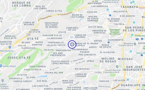 Reportan sismo de 2.5 con epicentro en Álvaro Obregón