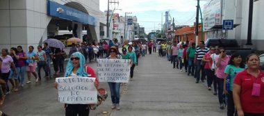 Docentes de la CNTE colapsan Tapachula