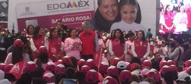 Del Mazo pide a amas de casa ser voceras del salario rosa