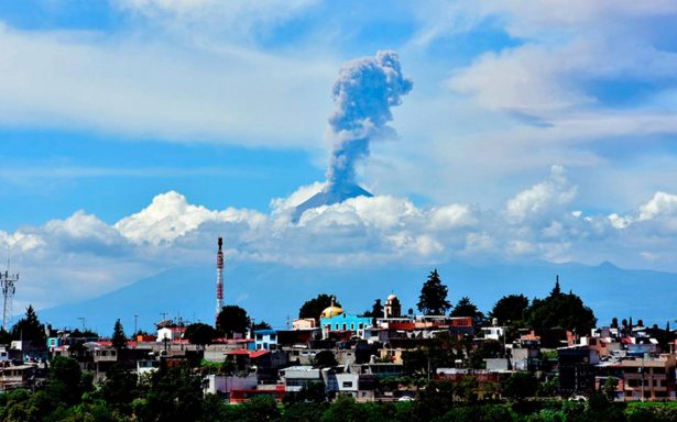 Constante actividad en el Popocatépetl regala imágenes de postal