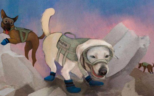 Reconoce gobierno labor binomios perro-humano en labores de rescate