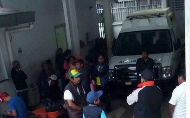 Dos heridos deja derrumbe en mina de Chiapas