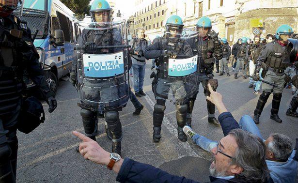 Blindaron la Ciudad Eterna 7 mil policías