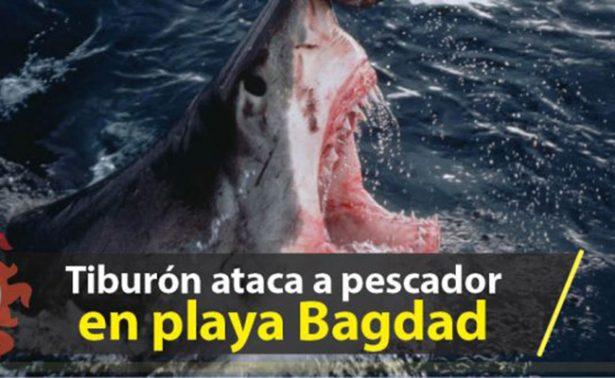 Tiburón ataca a pescador en playa de Tamaulipas