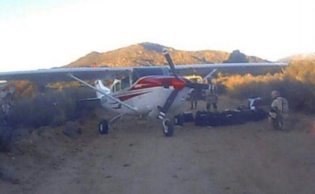 Atacan aeronave militar tras decomiso al cártel de Sinaloa en BC
