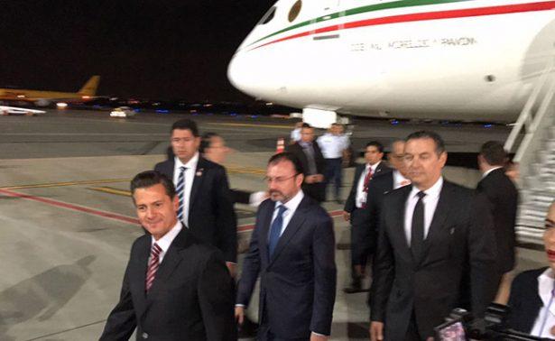 Peña Nieto llega a Costa Rica para la Cumbre del Mecanismo de Tuxtla