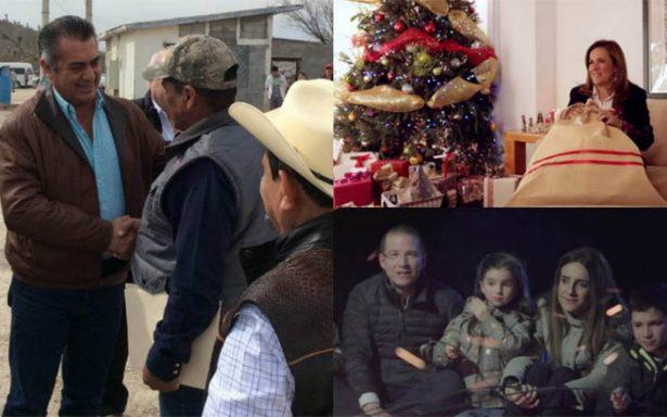 Precandidatos a la Presidencia externan sus buenos deseos para esta Navidad