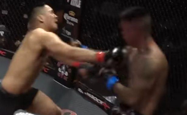 Luchadores se noquean al mismo tiempo