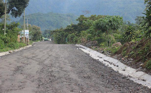 Varada rehabilitación de  caminos hacia el volcán Tacaná