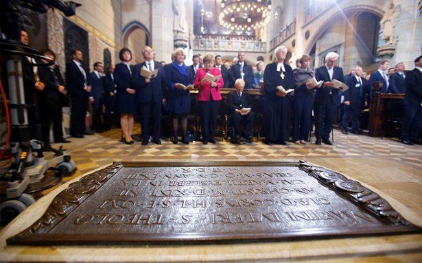 Angela Merkel rinde un homenaje a Martín Lutero