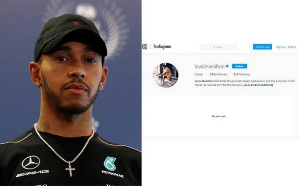 Tras polémica con su sobrino, Hamilton borra su contenido en Instagram