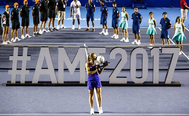 Lesia Tsurenko campeona del Abierto Mexicano de Tenis.