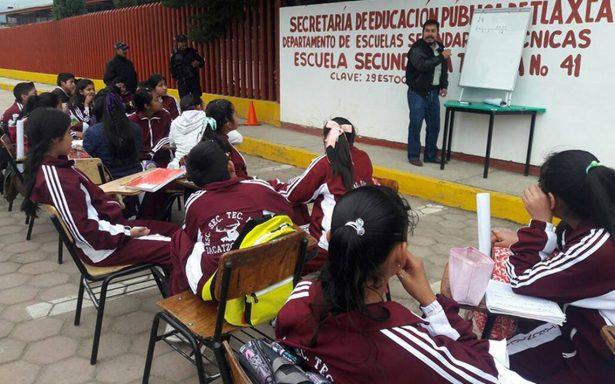Reinician clases en calles de Tlaxcala