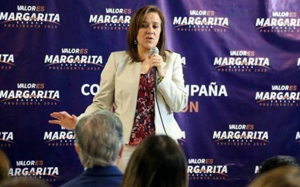 Busca Margarita Zavala crear red de 13 mil observadores electorales