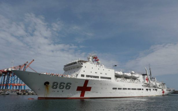 Buque hospital llega a Venezuela para atender crisis de salud