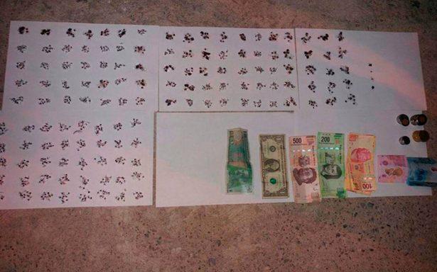 Encuentran heroína, más de 5 mil pesos y un reproductor DVD en Cereso de Chilpancingo