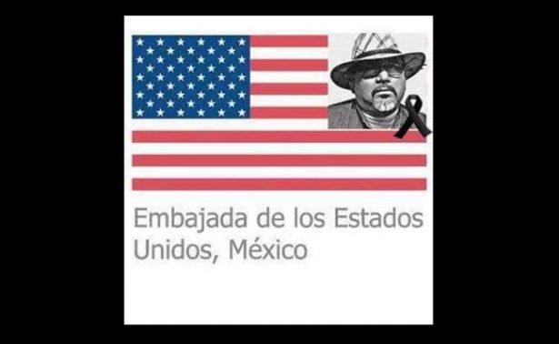 Embajada de EU en México honra memoria al periodista asesinado Javier Váldez