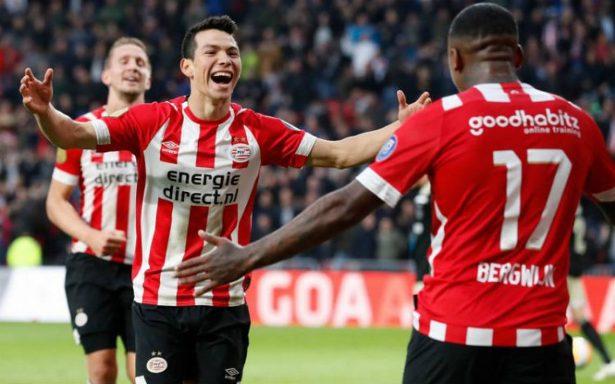 ¡Imparable! Chucky Lozano marca gol contra el Ajax