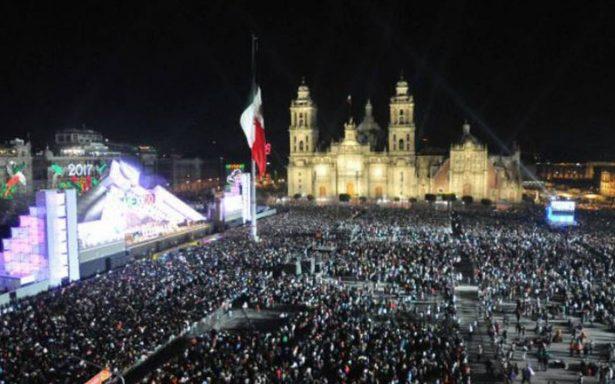 Todo listo en el Zócalo para el Grito de Independencia