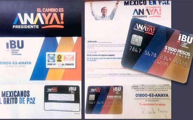 Morena denuncia ante INE supuesto reparto de tarjetas a favor de Anaya