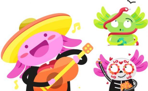 Un ajolote mariachi y otro comiendo garnachas… estos son los #EmojiCDMX