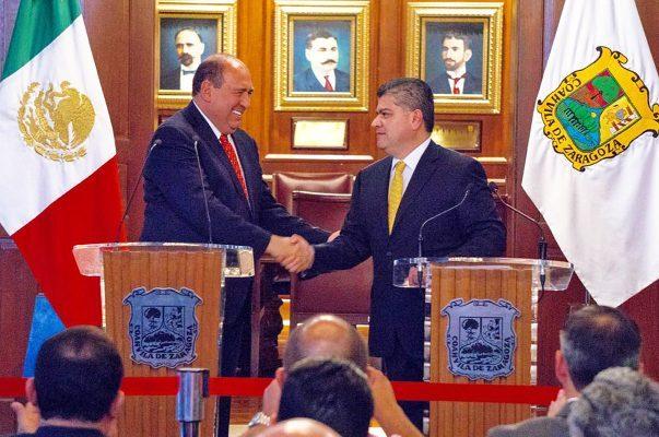 Moreira y Riquelme anuncian estrategia política para Coahuila