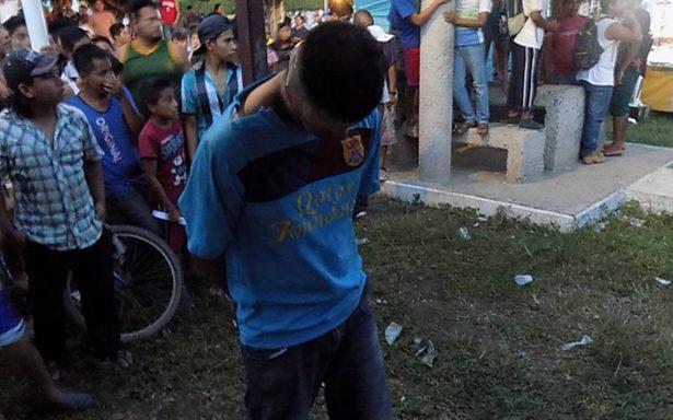 Intentan linchar a delincuente en Tabasco