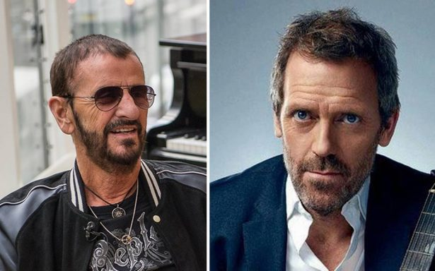 Reina Isabel II condecora a Ringo Starr y Hugh Laurie