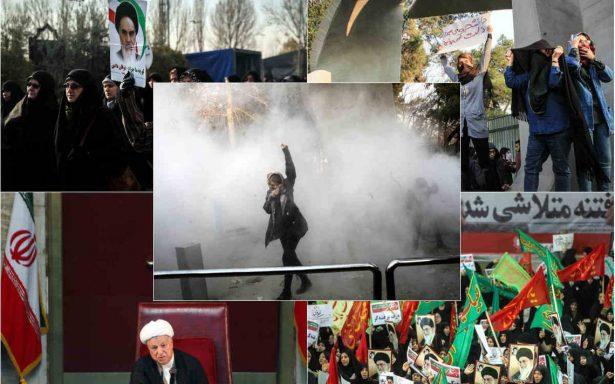 Disuelven marchas de estudiantes en Teherán; Trump critica respuesta de régimen iraní