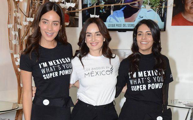 Ana de la Reguera, Olga Segura y Esmeralda Pimentel, recaudan fondos para ayudar a damnificados
