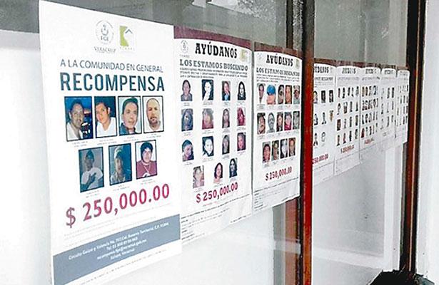 Predomina el desorden en desapariciones; carecen 11 estados de registro alguno