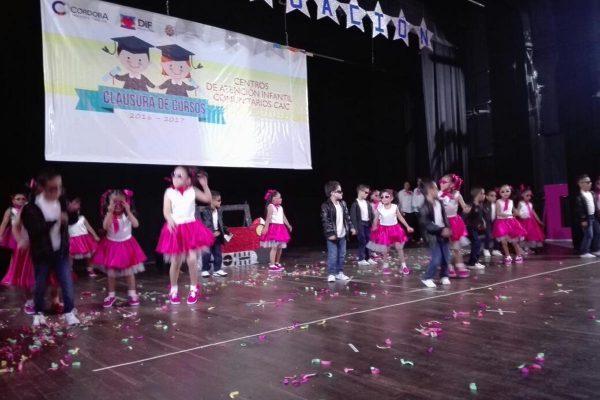 Se gradúan 74 niños y niñas de Centros de Asistencia Infantil Comunitarios de Córdoba