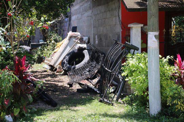 Flamazo; 9 lesionados
