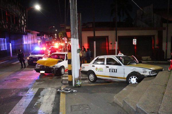 Choque de taxis