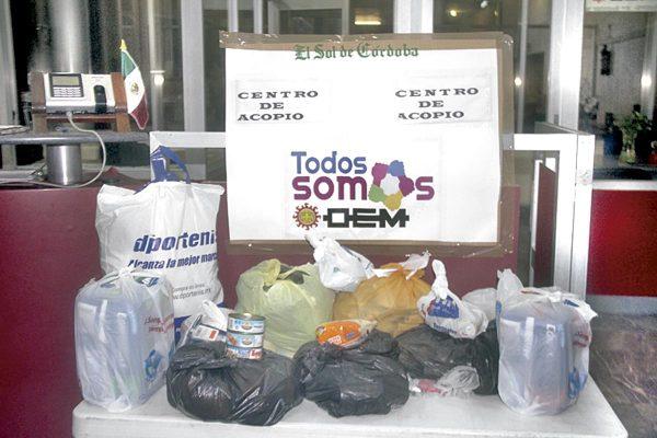 El Sol de Córdoba-El Sol de Orizaba y ABC Radio abren centro de acopio