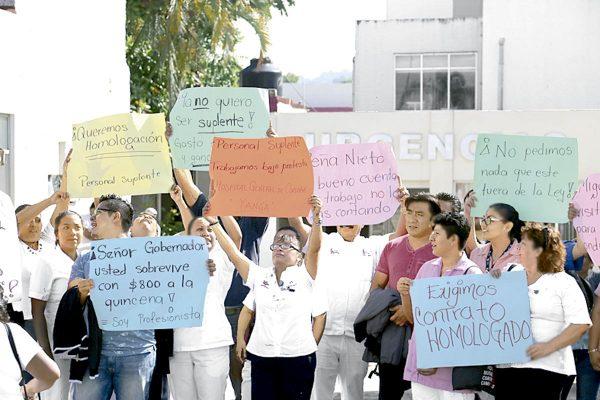Suplentes del Hospital General Yanga piden ser homologados