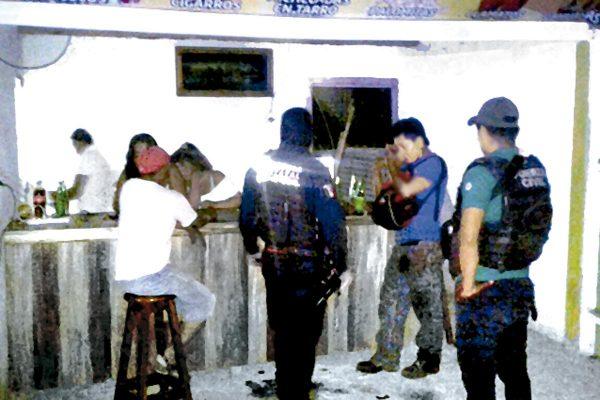 En operativo, SSP clausura 4 bares