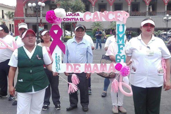 """Realiza actividades UMF 64 del IMSS por """"Día Mundial de Lucha contra el Cáncer de Mama"""""""