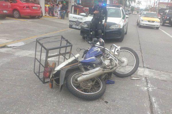 Motociclista herido en percance
