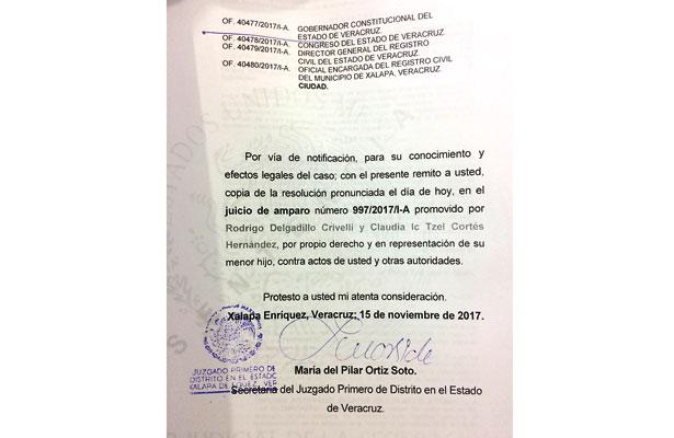 Primer caso en Veracruz: niño llevará apellidos en diferente orden al acostumbrado